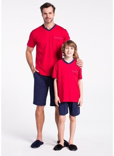 Dagi Erkek Çocuk Pijama Takım Kırmızı